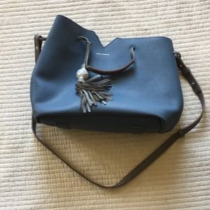 Blue Purse with Zipper Pouch